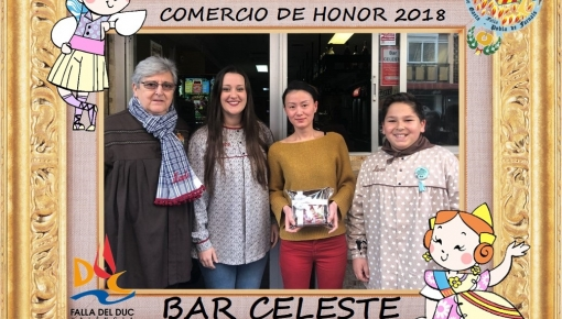 COMERCIOS DE HONOR 2018: BAR CELESTE