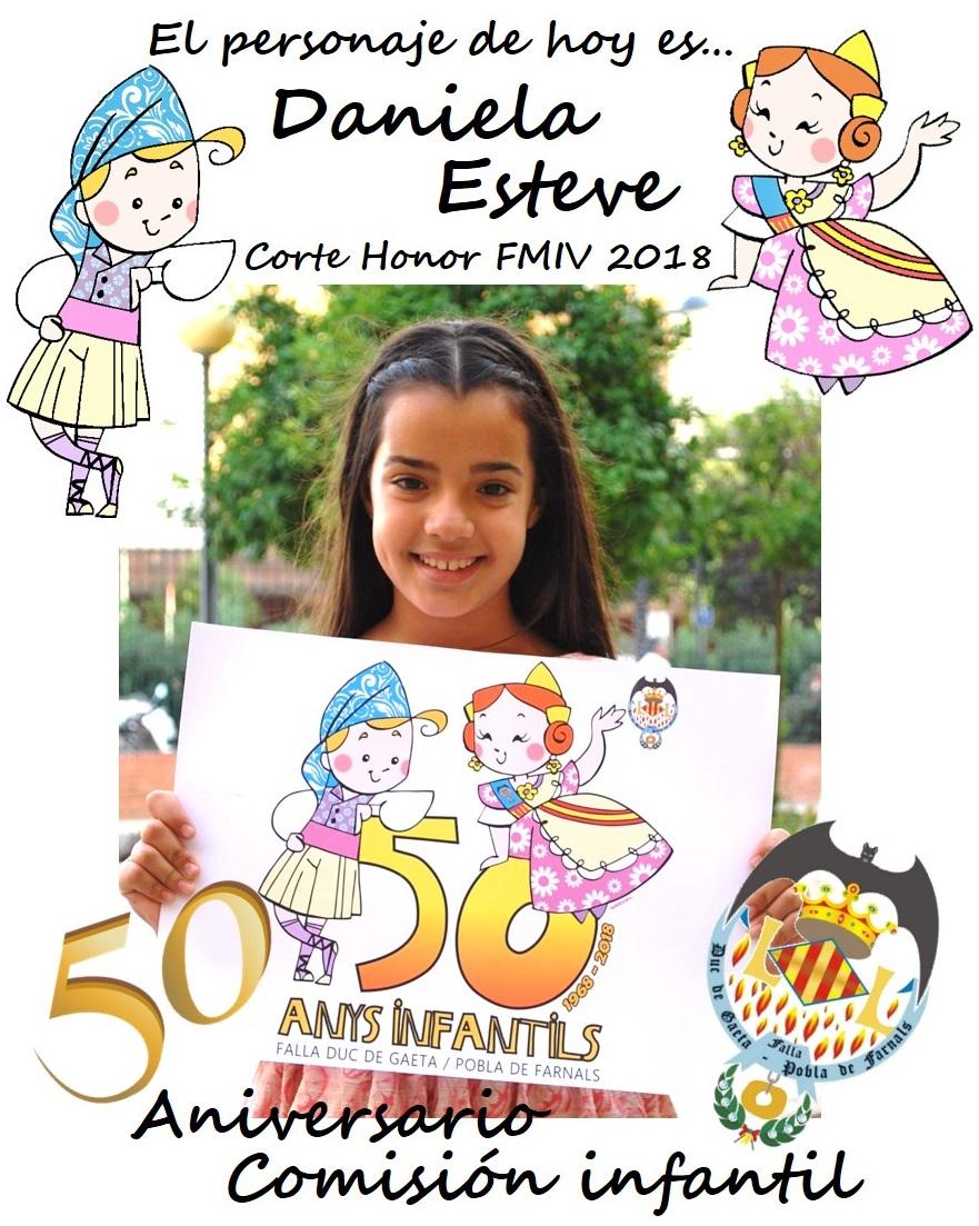 Personaje del día: Daniela Esteve, CHFMIV 2018 @JCF_Valencia