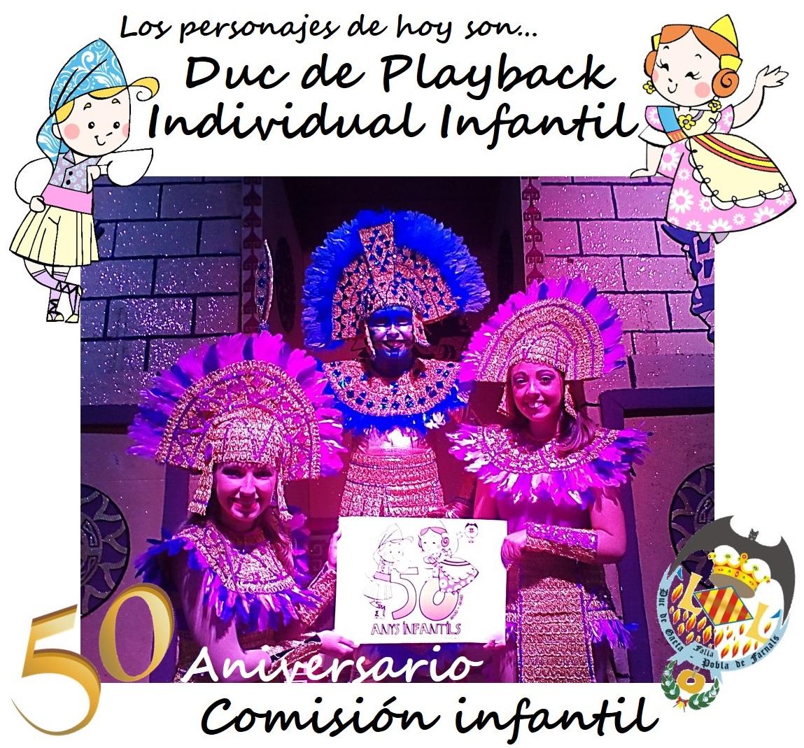 Personajes del día: Playback Infantil Individual @JCF_Valencia