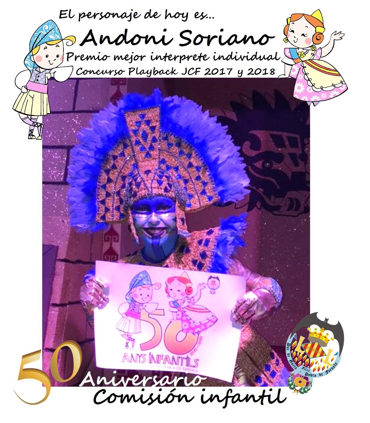 Personaje del día: Andoni Soriano Vidal