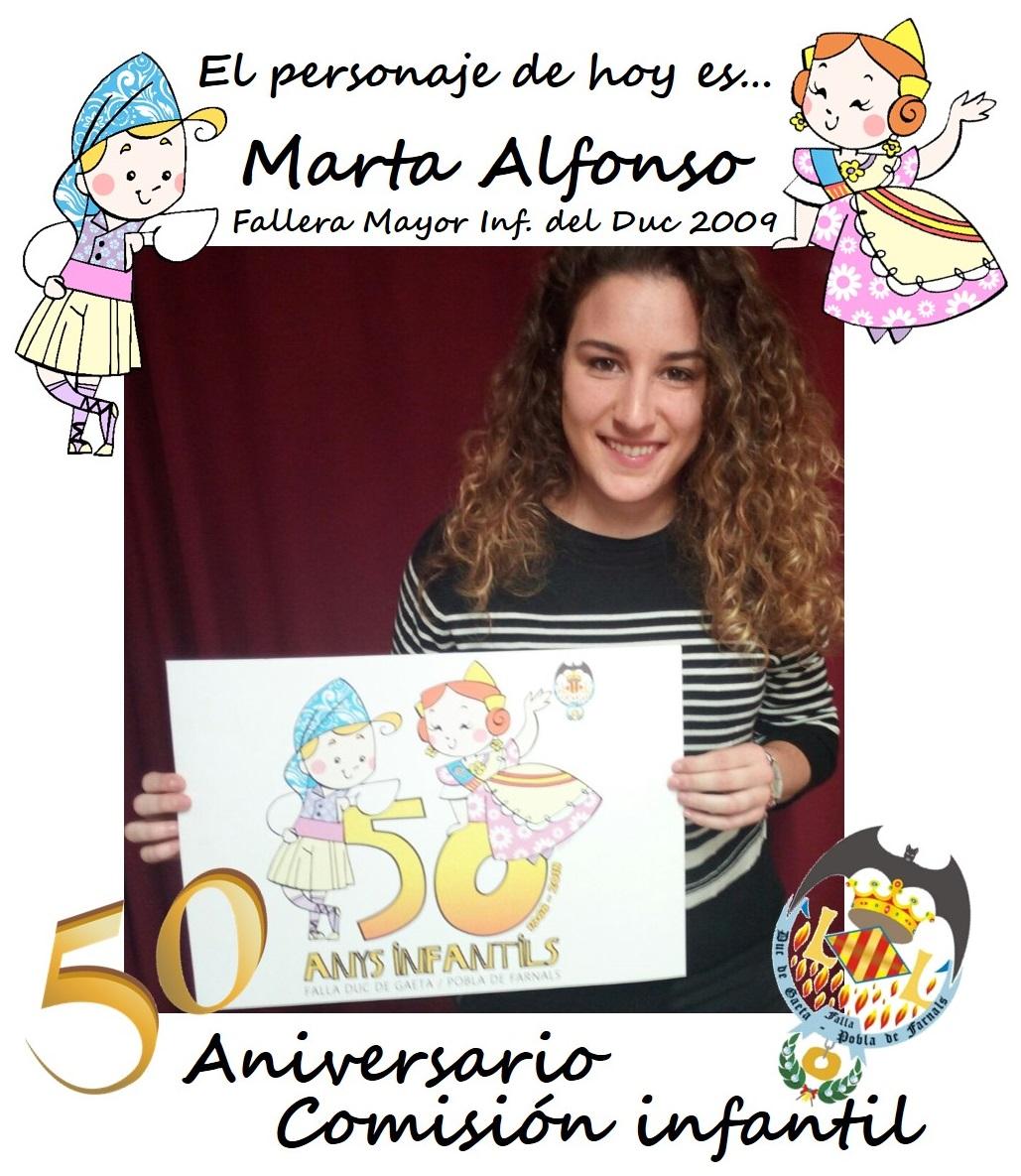 Personaje del día: Marta Alfonso