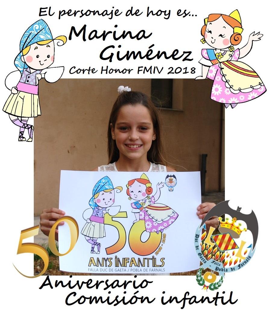 Personaje del día: Marina Giménez