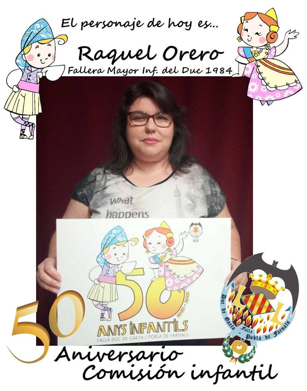 Personaje del día: Raquel Orero