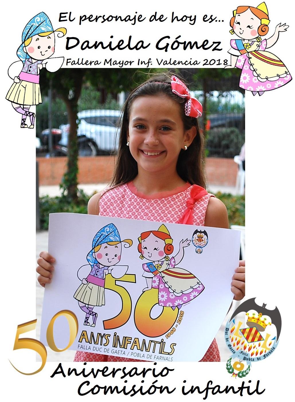 Personaje del día: Daniela Gómez de los Ángeles, Fallera Mayor Infantil de Valencia 2018