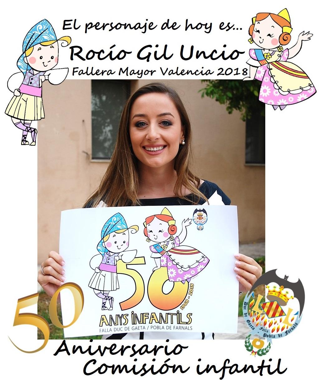 Personaje del día: Rocío Gil Uncio, Fallera Mayor de Valencia 2018 @JCF_Valencia