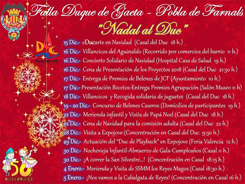 """Presentamos el calendario de actividades """"Nadal al Duc"""""""