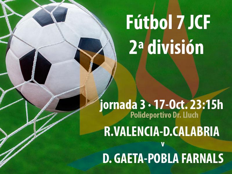 Llega la tercera Jornada de Fútbol 7 @JCF_Valencia