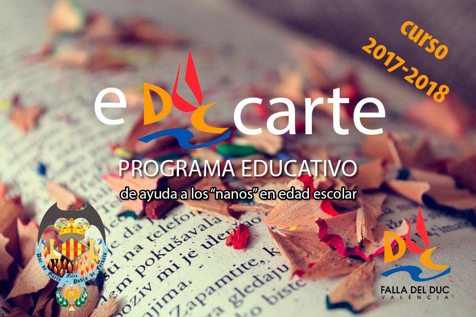 Vuelve eDUCarte, el programa educativo de la Falla del Duc