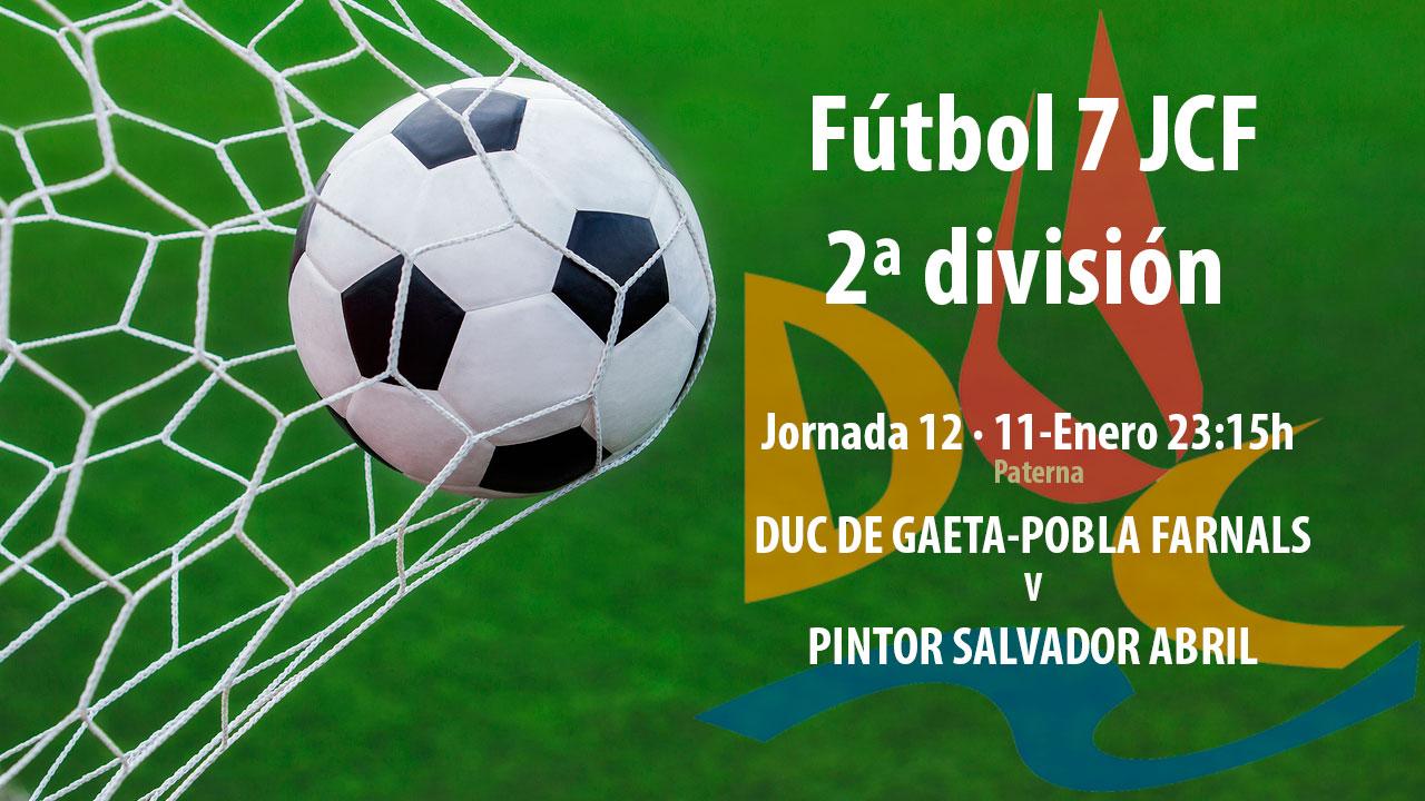 Llega la jornada 12 de Fútbol 7 @JCF_Valencia