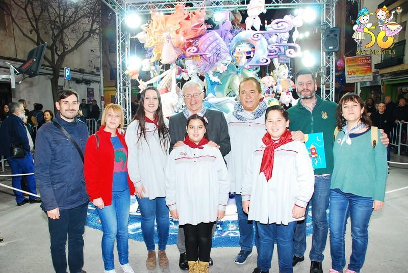 El Alcalde de Valencia Joan Ribó visitó la Falla del Duc