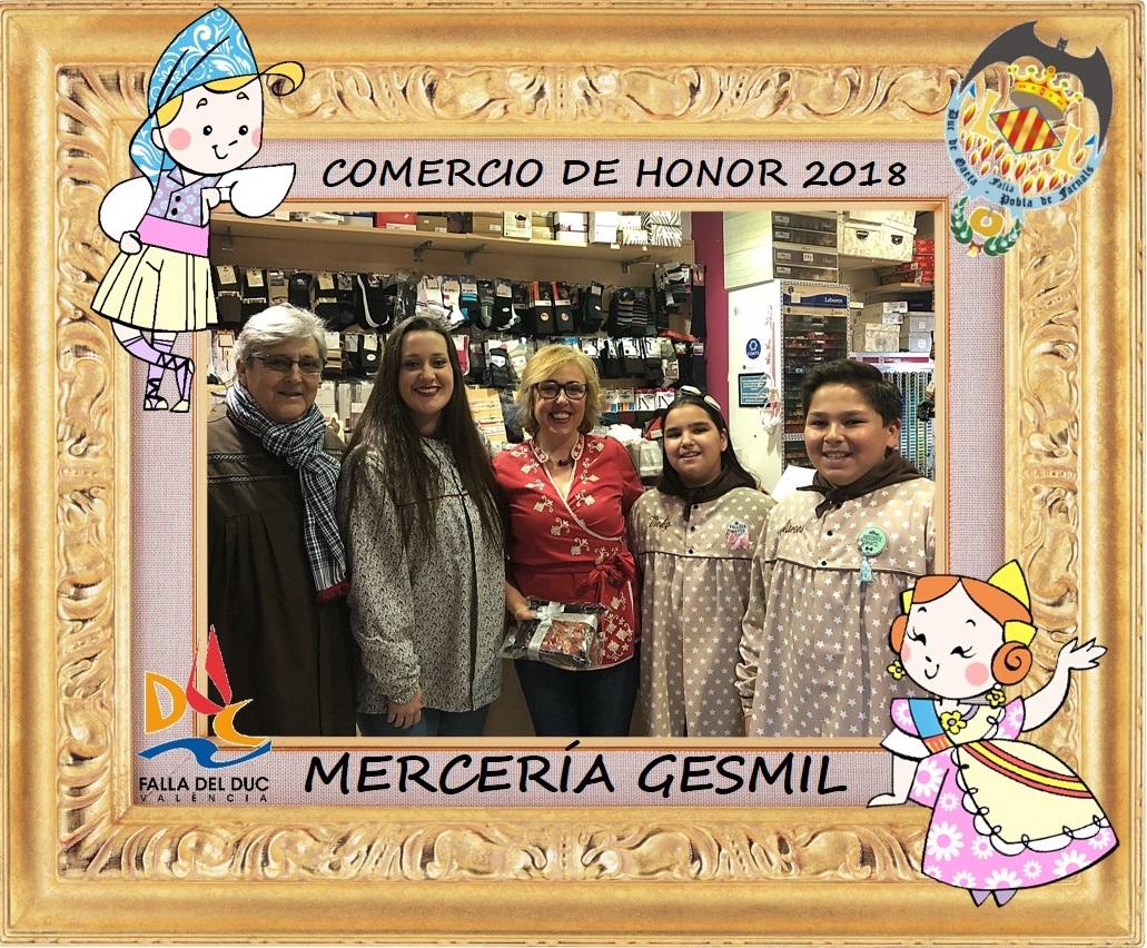 COMERCIOS DE HONOR 2018: MERCERÍA GESMIL