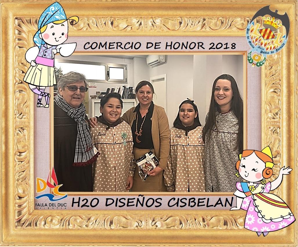 COMERCIOS DE HONOR 2018: H2O DISEÑOS CISBELAN
