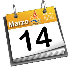 Programa de actividades previstas Miércoles 14 de Marzo