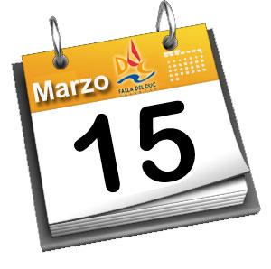 Programa de actividades previstas Jueves 15 de Marzo
